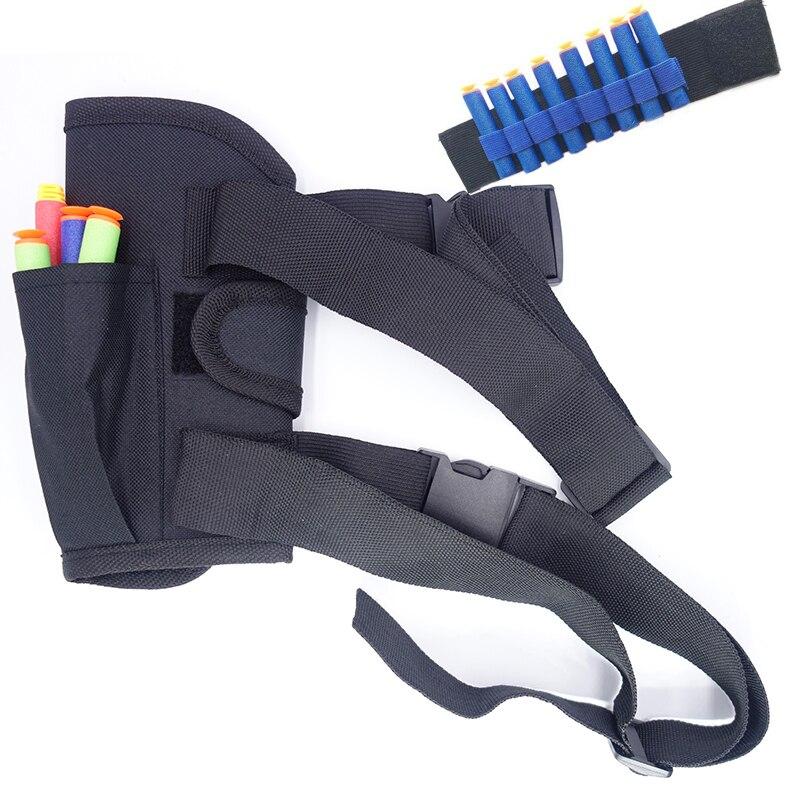 2017 23 шт./компл. 1 шт. поясная сумка + 2 предмета wriste + 20 шт. синий Дартс для игрушечный пистолет Elite серии