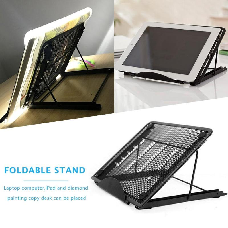 Foldable Support For Base Stand For Painting Diamond Diamond Painting Light Copy Pad Copy Desk Laptop Computer Holder