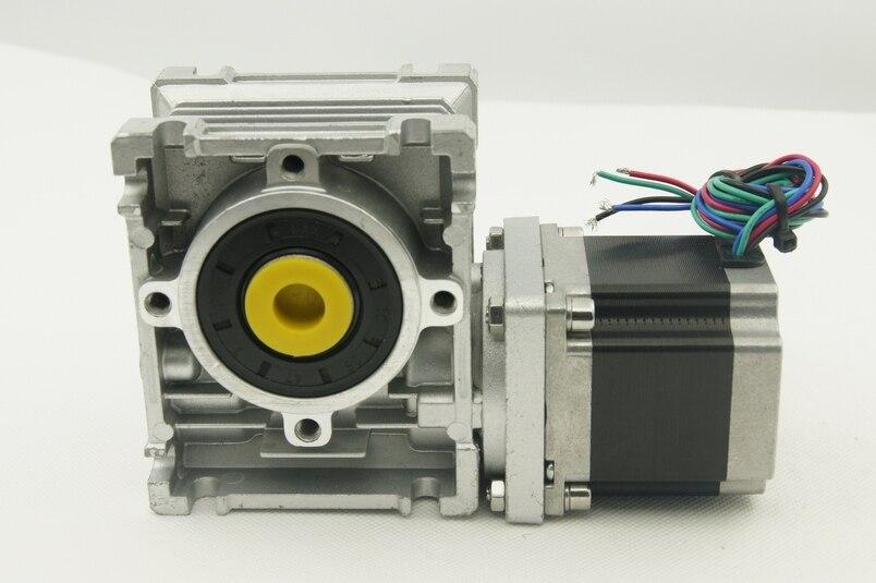 Nema23 червячный редуктор шагового двигателя 5:1/7,5: 1/10: 1/15: 1/20: 1/25: 1/30: 1/40: 1/50: 1/60: 1/80: 1 отношение Мотор Длина 56 мм и выходной вал