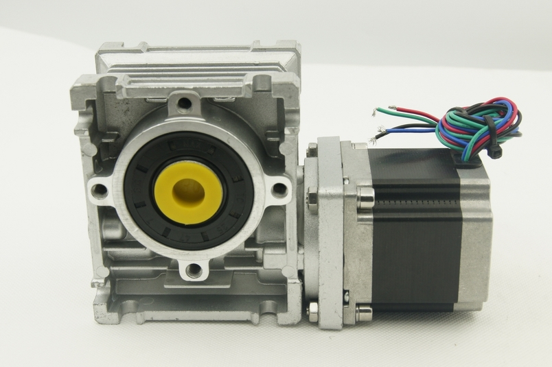 Nema23 Jingbo Worm Geared Stepper Motor 0.9N.m(129oz-in) worm Gear Ratio 1:5 motor length 56mm with output shaft 4 lead nema 34 worm geared stepper motor with brake and output shaft 8 5n m 1215oz in motor length 118mm worm gear ratio 1 5