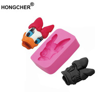 New duck head frog fondant silicone mold chocolate mold, cake dessert decoration kitchen baking gadget, candle