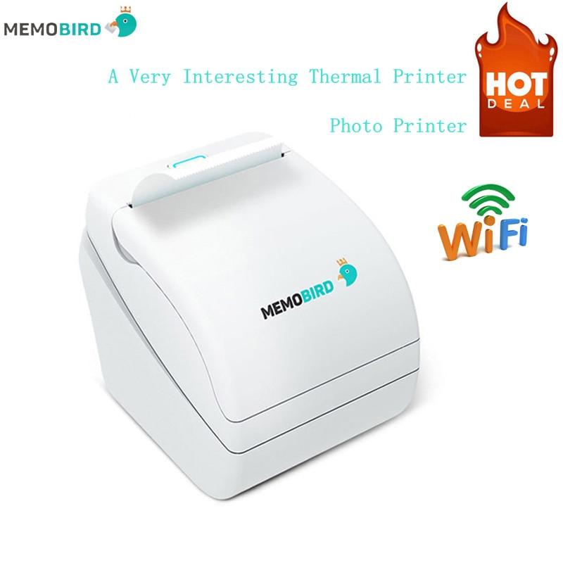 Printers Memobird G1 New Thermal Printers barcode Printers WiFi Wireless Remote Phone Photo Printer any language