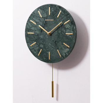 Nordic Marble Wall Clock Living Room Bedroom Modern Minimalist Silent Clock Creative Swing Watch Wall Home Decor 50Q244