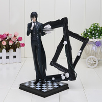 25CM Anime Black Butler Ministers Sebastian PVC Action Figure Collectible Model Toy