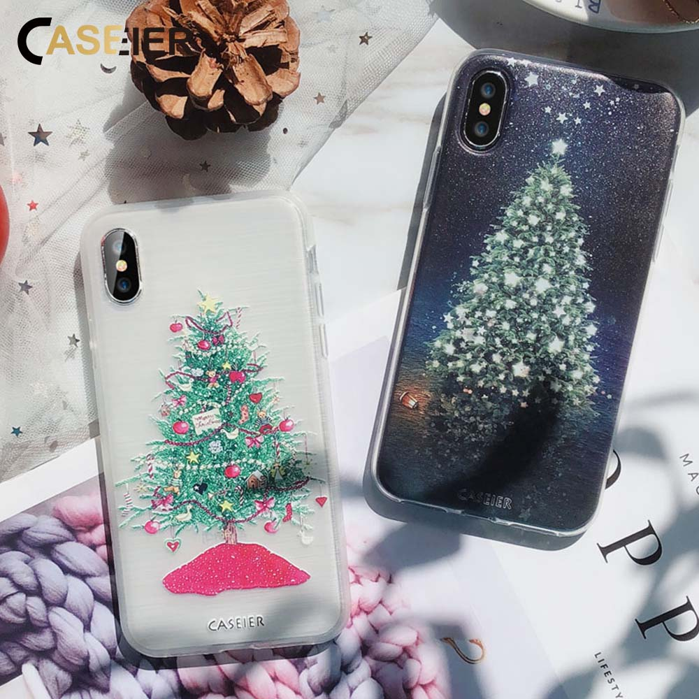 CASEIER Christmas Case For Iphone X 6 6S 7 8 Silicone 3D Cases For ...