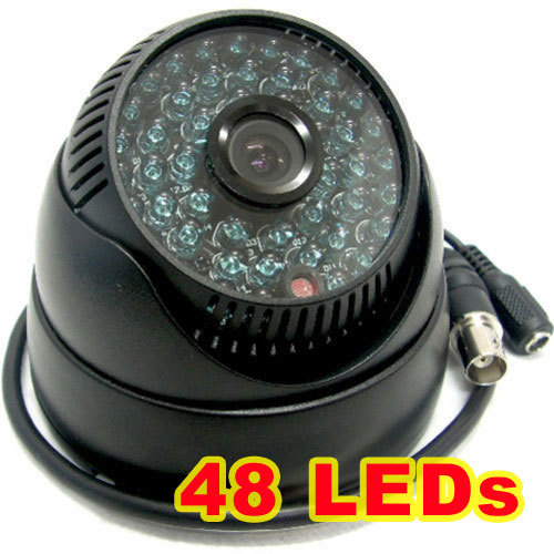 ФОТО 1 3 Sony CCD IR Color CCTV Dome Security Wide Angle Camera view 92degress 48 LEDs