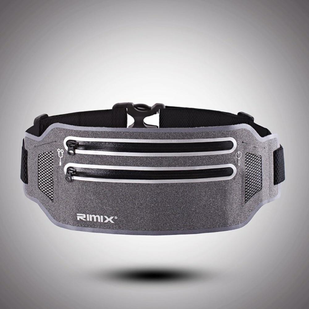 RIMIX Unisex Running Belt For 6.5 Inch Phone Reflective Sport Waist Band Bag Pack For Fitness Jogging Marathon Gym Fitness
