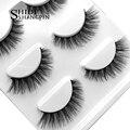 SHIDISHANGPIN 3d mink eyelashes hand made makeup false eyelashes natural long eyelash extension 1 box 3 pairs eyelash X08