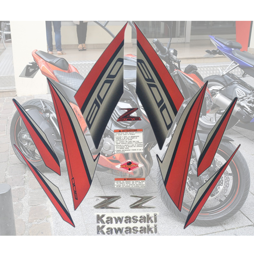 Motorcycle For Kawasaki Z800 13-14-15-16 Z 800 2013-2014-2015-2016 Sticker Full Kit Applique High Quality Whole Vehicle Decal