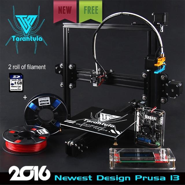 2016 Newest TEVO Tarantula I3 Aluminium Extrusion 3D Printer kit printer 3d  printing 2 Rolls Filament 8GB SD card LCD As Gift-in 3D Printers from
