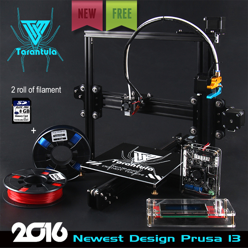 2017 Newest TEVO Tarantula I3 Aluminium Extrusion 3D Printer kit printer 3d printing 2 Rolls Filament