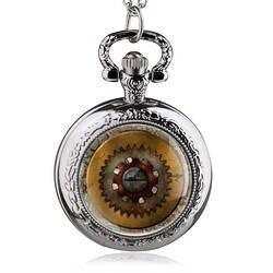 Для мужчин 'fashion Античный стимпанк Шестерни кварцевые карманные часы Цепочки и ожерелья цепь кулон подарок для Для мужчин Для женщин Relogio де