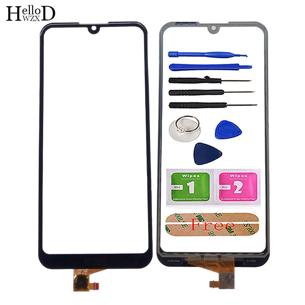 Mobile Touch Screen For Huawei Y6 2019 / Y6 Prime 2019 / Y6 Pro 2019 Touch Screen Digitizer Panel Lens Sensor Front Glass Tools