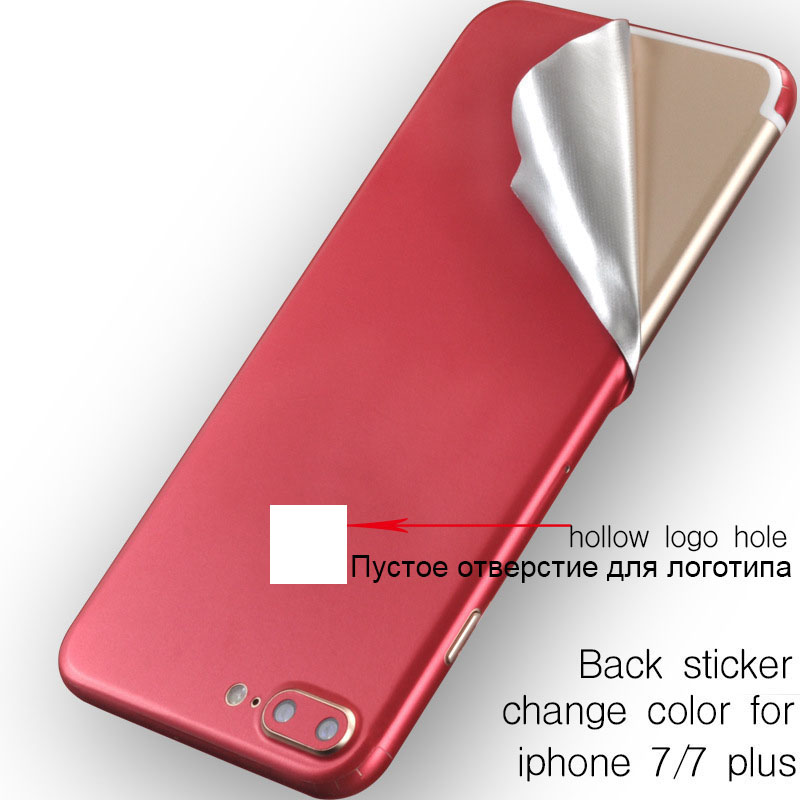 the best attitude 77a56 fd325 US $1.68 11% OFF|Ice Surface For iPhone 7 7 Plus Red Back Film Thin Screen  Protector Protective Cover Stickers Color Paster Rear Decorative Film-in ...
