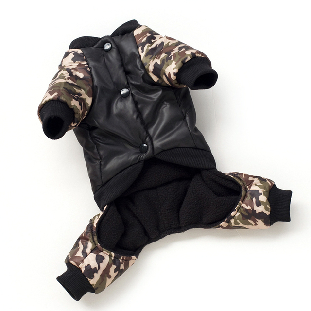 Cool FBI Pet Dog Clothes Overall Thickening Dog Puppy Jumpsuit Costume Warm Winter Clothing For Boy Dogs Ropa Para Perros 2