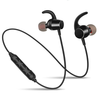 ZAPETMagnet Switch Sport In Ear Bluetooth Earphone Outdoor Waterproof Earpiece Bass Stereo Handsfree Wireless With Mic