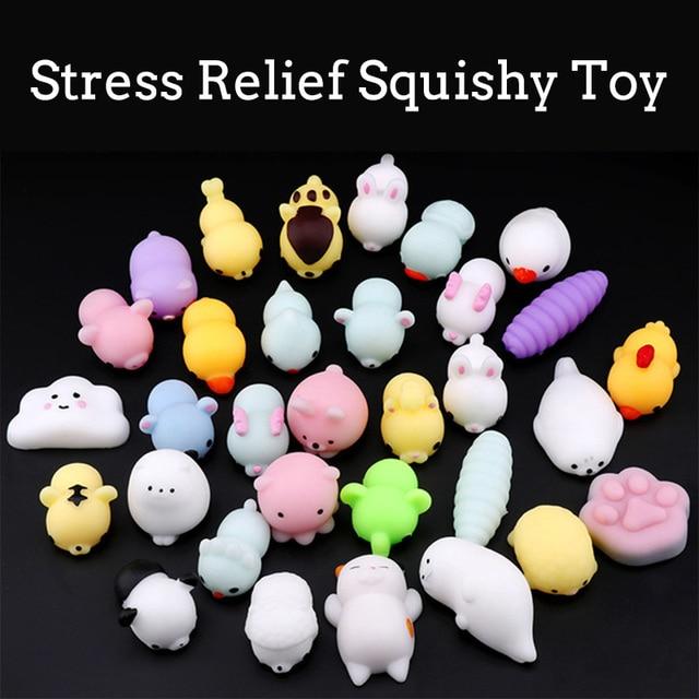 Squishy Min Animal Bonito Antistress Bola Squishy Squeeze Stress Relief Crianças Engraçado Abreagir Pegajosa Macio Dom Brinquedos para Crianças CZX6