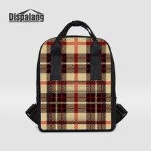 Dispalang женские рюкзаки для девочек-подростков Молодежная тенденция школьная сумка Клетчатый узор студент сумка леди рюкзак для ноутбука