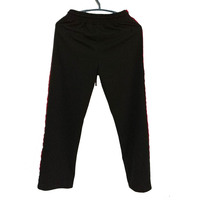 Popular Full Length women Trousers Straight lady Casual pants Black Spliced trousers SML Street Loose pants
