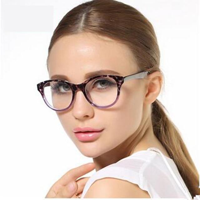 2016 New Brand Women Coating Optical Glasses Frame Cat Eye TR 90 Eyeglasses Anti-radiation Anti-fatigue Computer Glasses