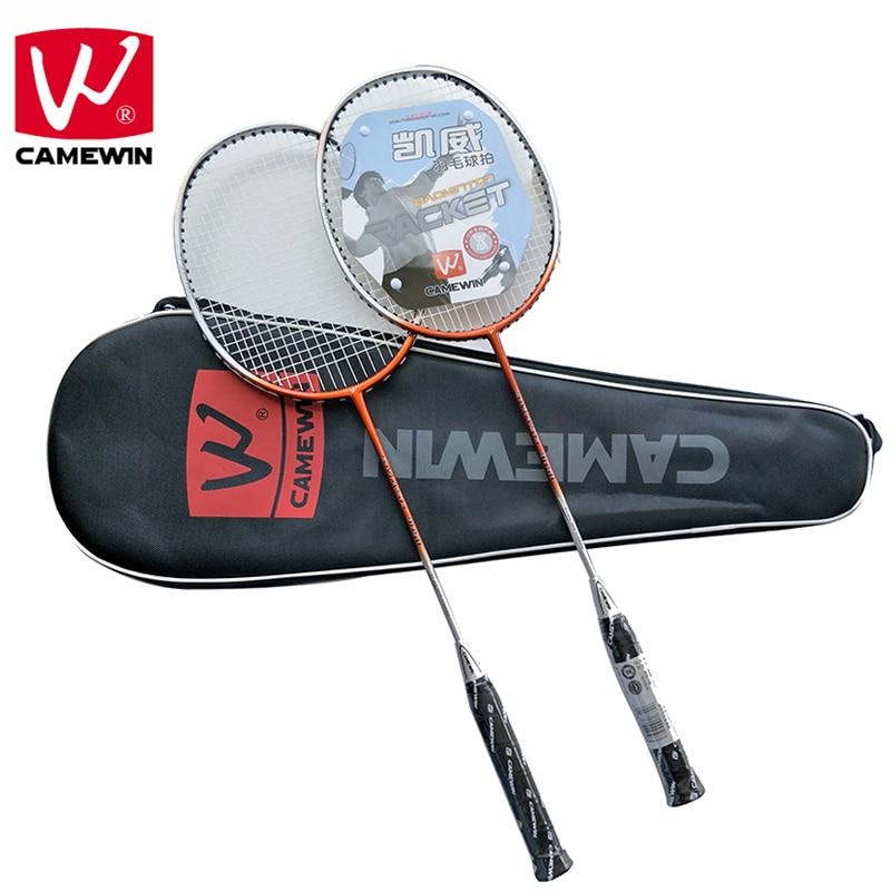 CAMEWIN Brand Professional Badminton Racket Carbon High Quality Badminton Sports Racquet  2 PCS Badminton Rackets+1 Bag   Raquet