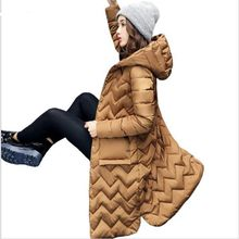 HZF 2017 New Winter Jacket Women Hooded Cotton Padded Long Coats Winter Women Coats And Jackets Slim Long Sleeve Thick Parkas