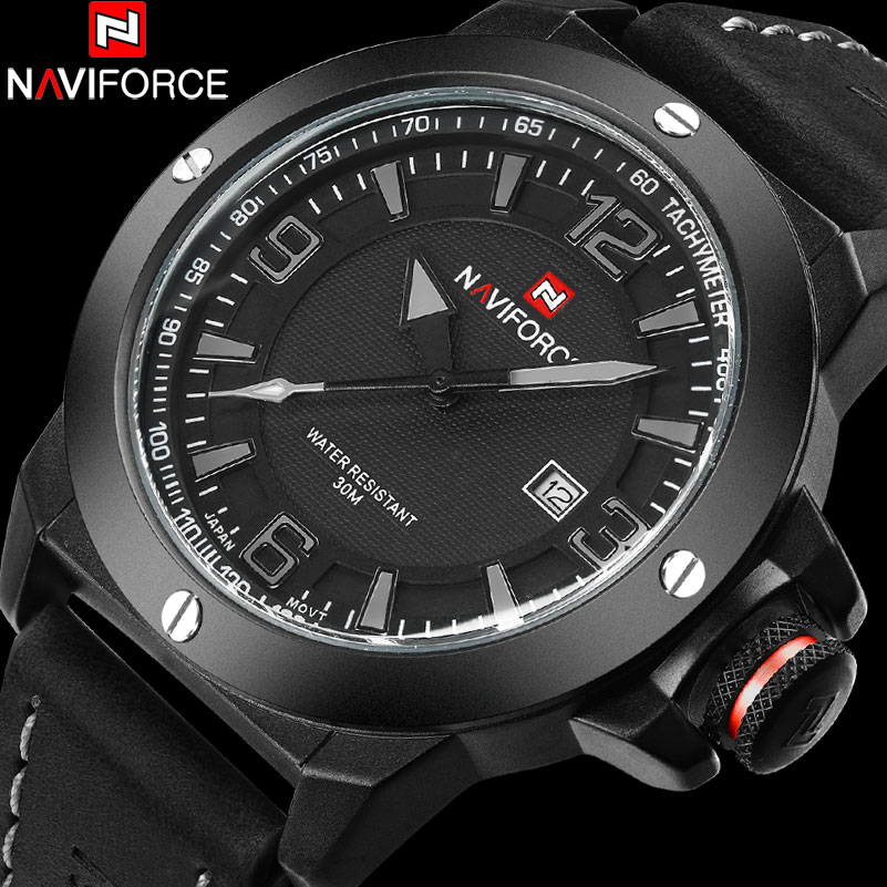NAVIFORCE Brand Watch Men Quartz Watches Fashion Casual Reloj Hombre Army Military Sport Waterproof Wristwatch Relogio Masculino jedir reloj hombre army quartz watch men brand luxury black leather mens watches fashion casual sport male clock men wristwatch
