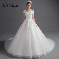It S Yiiya 2017 Hot Off White Sleeveless Boat Neck Wedding Gowns Vintage Plus Size Pregnant