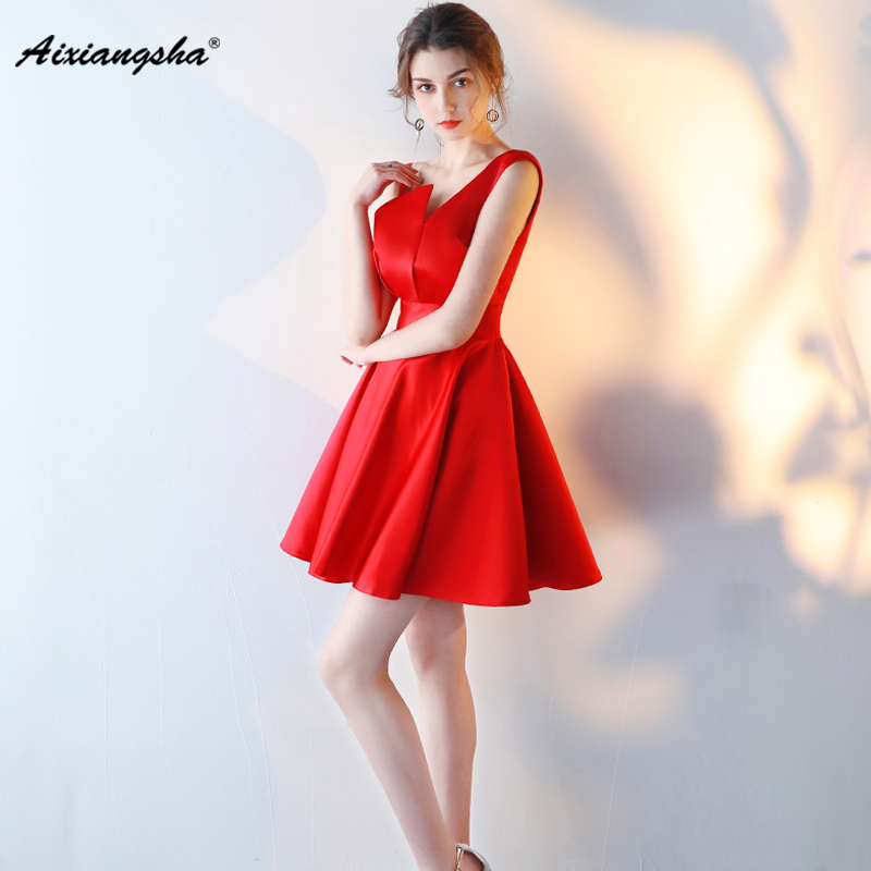 2018 Red Simple A Line Cheap Fashionable Special Occasion New