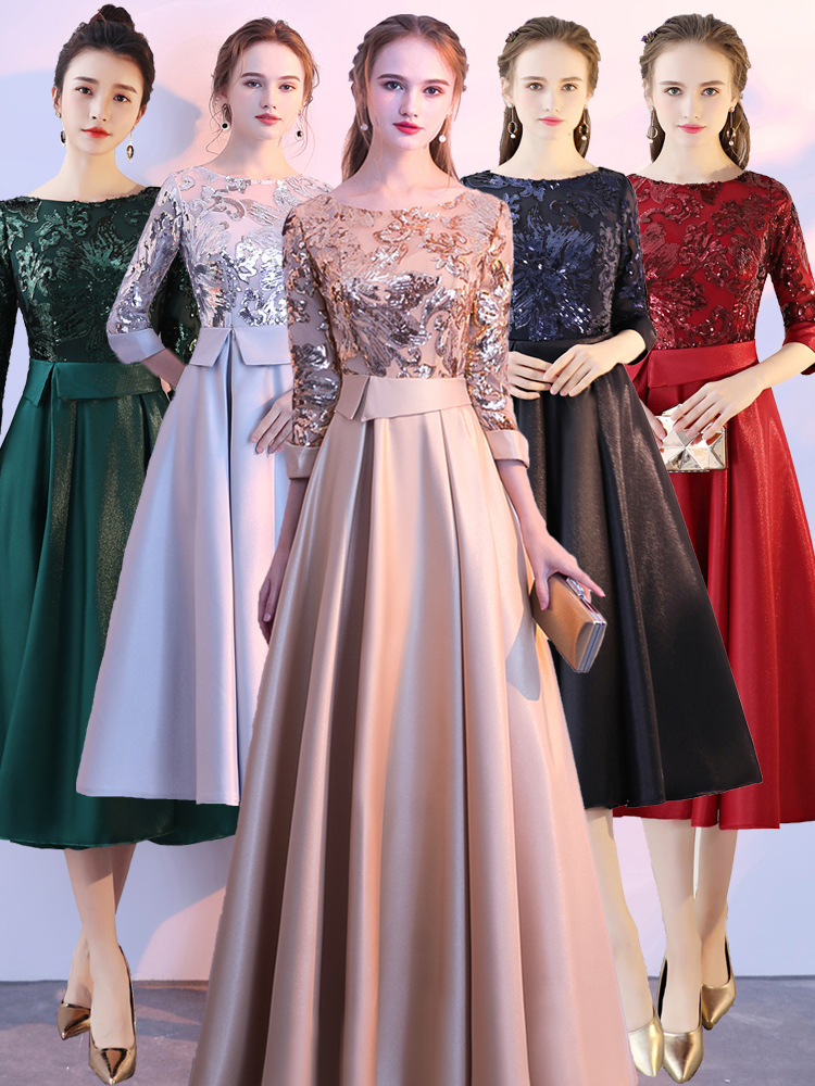 Été noël Maxi longues robes pour les femmes pleine dentelle o-cou fête de mariage soirée élégante robe Vestidos Verano Midi vêtements