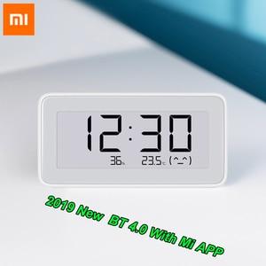 Image 1 - 100% Xiaomi Mijia BT4.0 Wireless Smart Electric Digital clock Indoor Hygrometer Thermometer E ink Temperature Measuring Tools
