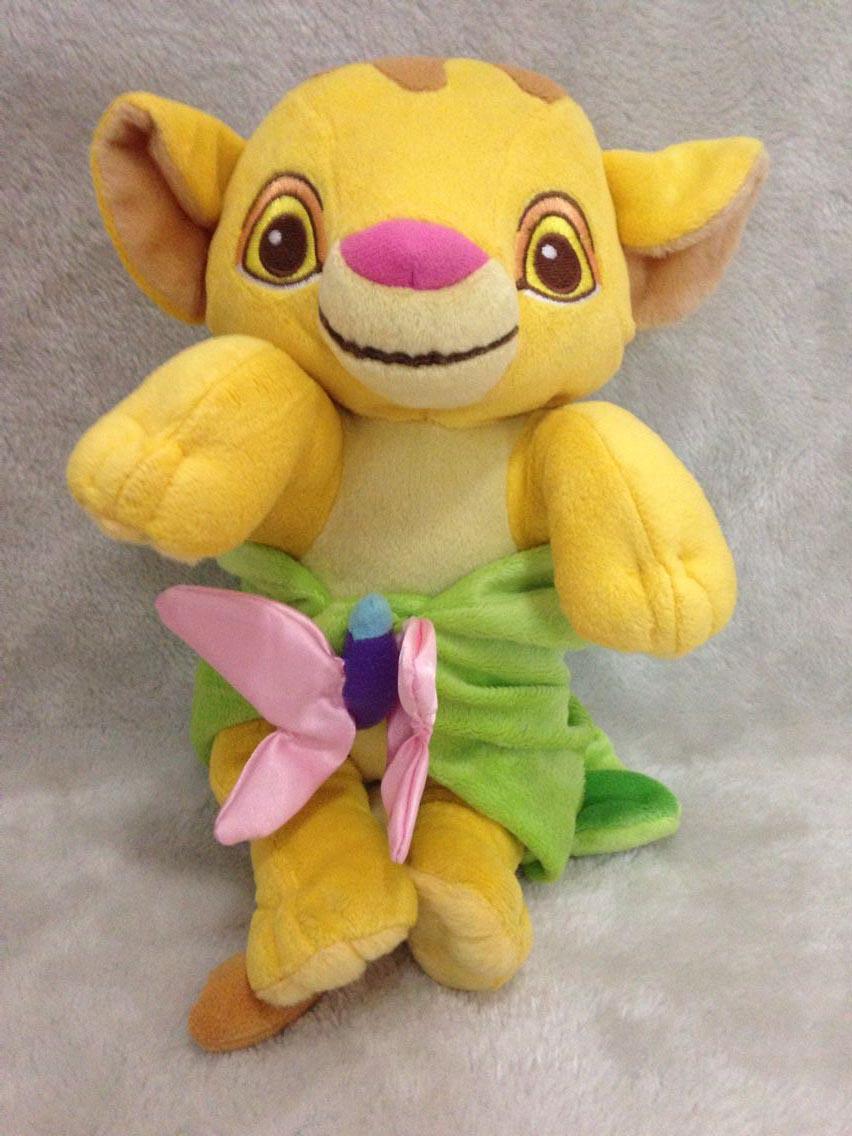 ᗑnew Original The Lion King Baby Simba With Blanket Kids Plush Toys