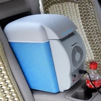 Mini Carro 7.5L Refrigerador Freezer Geladeira Portátil 12 V Auto Aquecimento Calor Geladeira Qualidade Multi-Função ABS para Viagens Camping