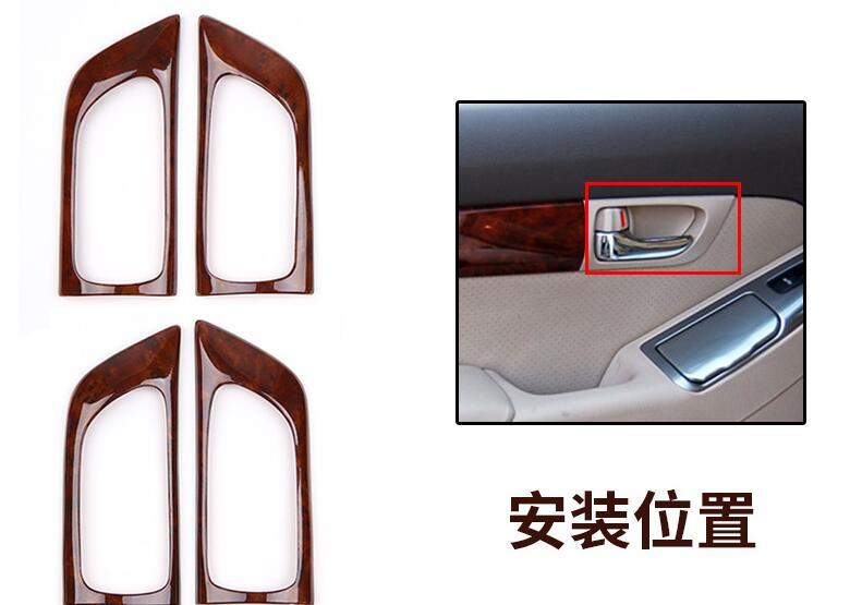 De luxe En Bois Chrome Pour TOYOTA Prado 2003-2009 Voiture Intérieur Décoratif Cadre capots de bordure Car Styling Auto Accessoires - 6