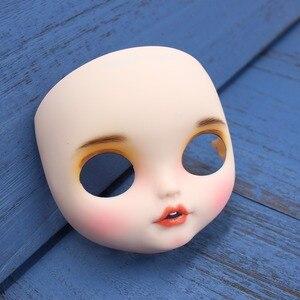 Image 4 - Blyth doll glacé personnalisé visage bouche ouverte avec dents langue peau blanche lèvres sculpte le visage des sourcils avec plaque arrière et vis