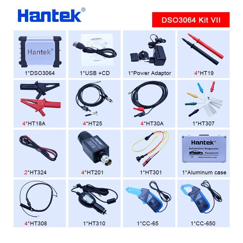 Hantek DSO3064 Kit VII Automotive Car Diagnostic Oscilloscope USB 2 0 4CH 200MS s 60MHz Frenquency