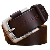 Designer Best Quality 100% Upper Genuine Leather Alloy Pin Buckle Belt For Men Business Men Belt Fancy Vintage Jean Cintos Belt