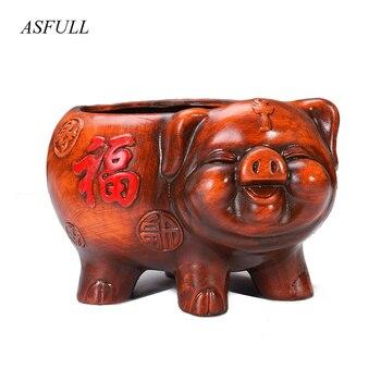 Vintage Pig Porcelain Piggy Statue Flower Pot Decorative Ceramics Home Tabletop Planter for Bonsai Craft Ornament Pots Fleshy