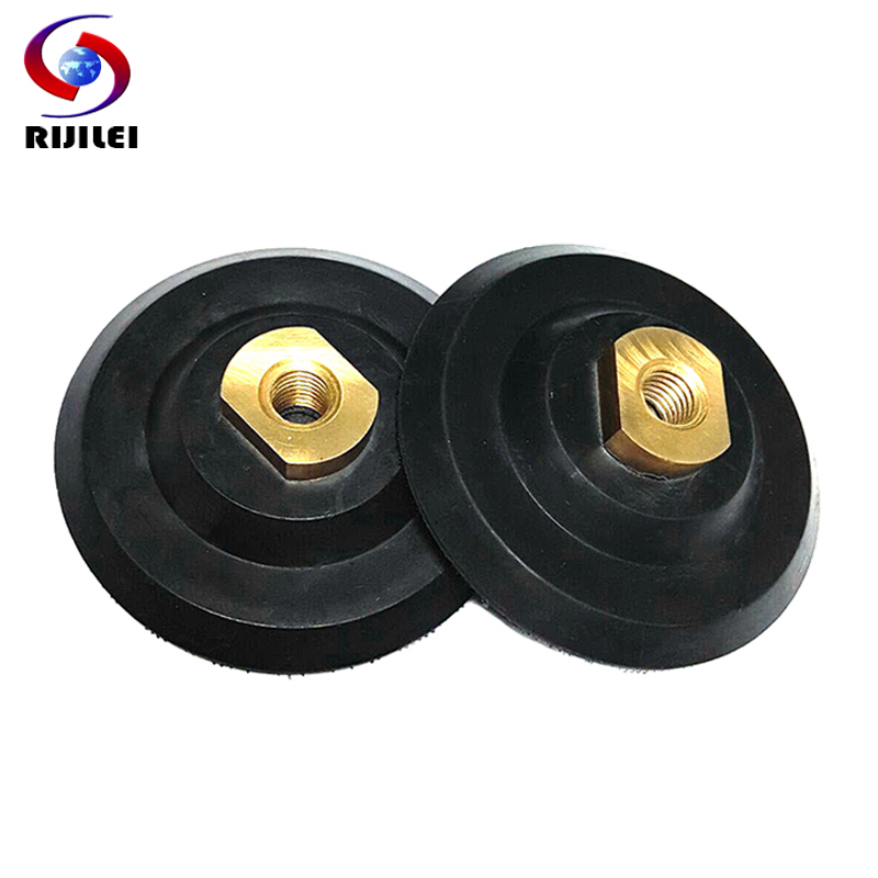 (4JTC) Free shipping 4 /100mm 5/8-11 Rubber backer pads back up for polishing pads rubber connetor granite fitting sanding pad 11 11 free shipping adhesive sander back pad sanding machine mat black white for makita 9035