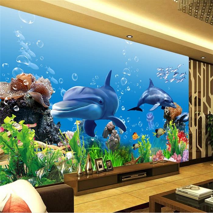 Custom photo wallpaper 3D mural wallpaper underwater