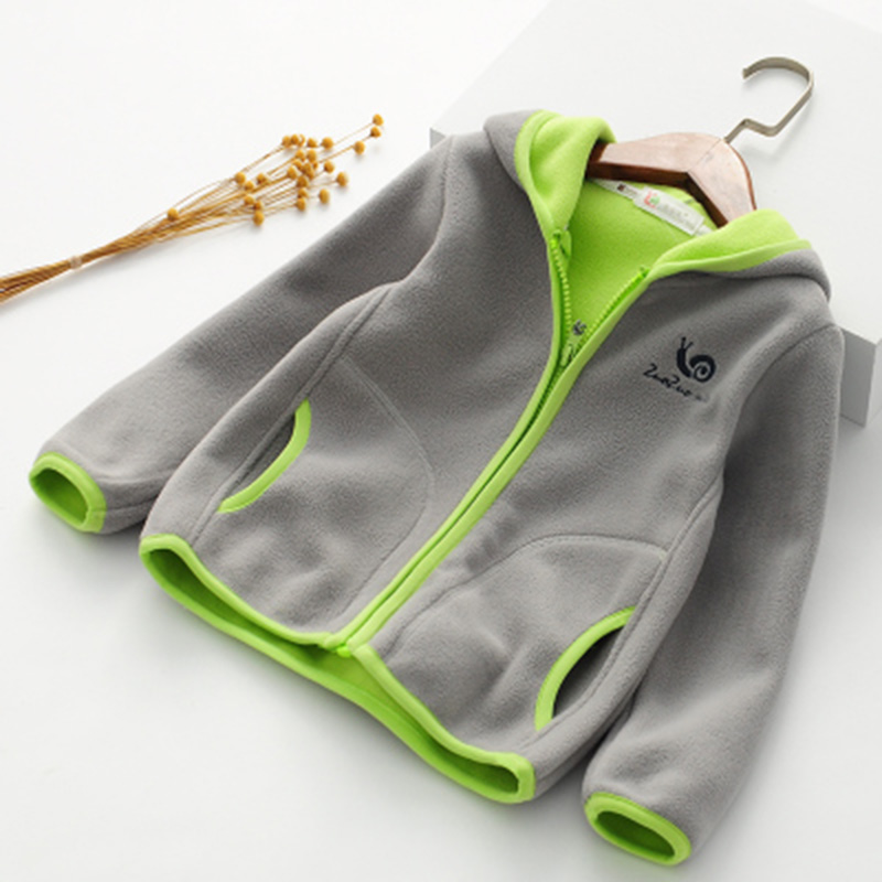 2018 spring autumn fleece children's jackets for girls child hoodies kids cardigan toddler coats for boys baby sweatshirts 2-6T  4