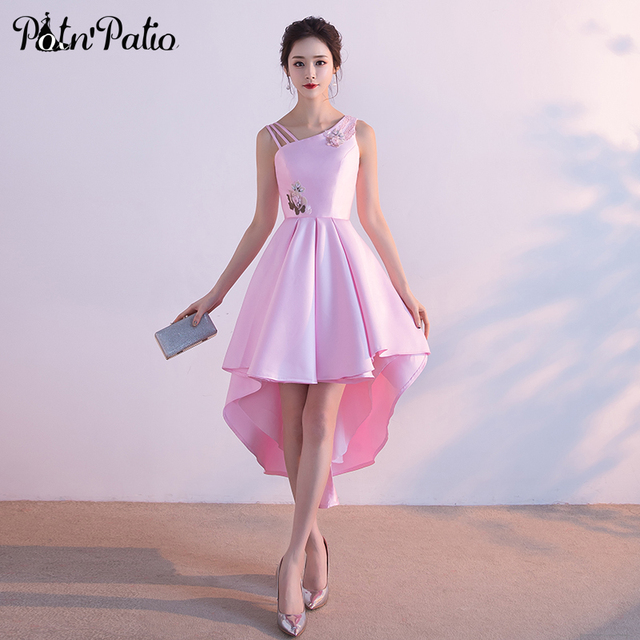 Pink Satin Bridesmaid Dresses_Bridesmaid Dresses_dressesss