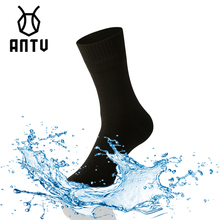 ANTU กันน้ำ Breathable ไม้ไผ่เรยอนถุงเท้า TRAIL แห้งสำหรับเดินป่าการล่าสัตว์เล่นสกีตกปลาไม่มีรอยต่อกีฬากลางแจ้ง Unisex