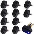 EE поддержка 10 Шт. 12 В 30A Цвета LED Black Heavy Duty OFF/ON Rocker Тумблер Стайлинга Автомобилей XY01