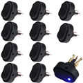 EE apoyo 10 Unids 12 V 30A Colores LED Negro Heavy Duty OFF/ON Interruptor de Palanca Basculante Car Styling XY01