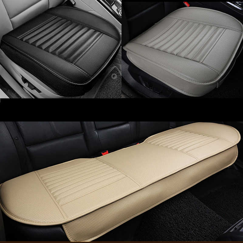 الجلود مقعد السيارة يغطي العالمي غطاء مقعد أربعة مواسم وسادة مجموعات السيارات حصيرة مقعد الداخلية يغطي اكسسوارات السيارات