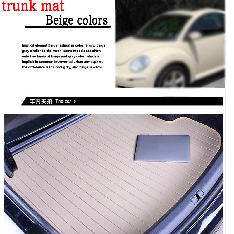 Imperméable à l'eau sans odeur tapis de coffre de voiture pour Mazda 3/6/2 MX-5 CX-5 CX-7 Cadillac SLS SRX CTS cuir 3D carstyling tapis maritimes de ligne