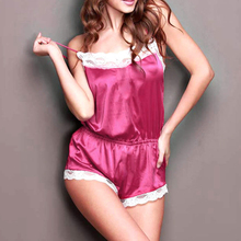 Women Sexy Lingerie Hot New Stylish Ladies Satin Lace Robe Bodysuits Rompers Nightdress Pajamas Sleepwear Babydoll One Pieces