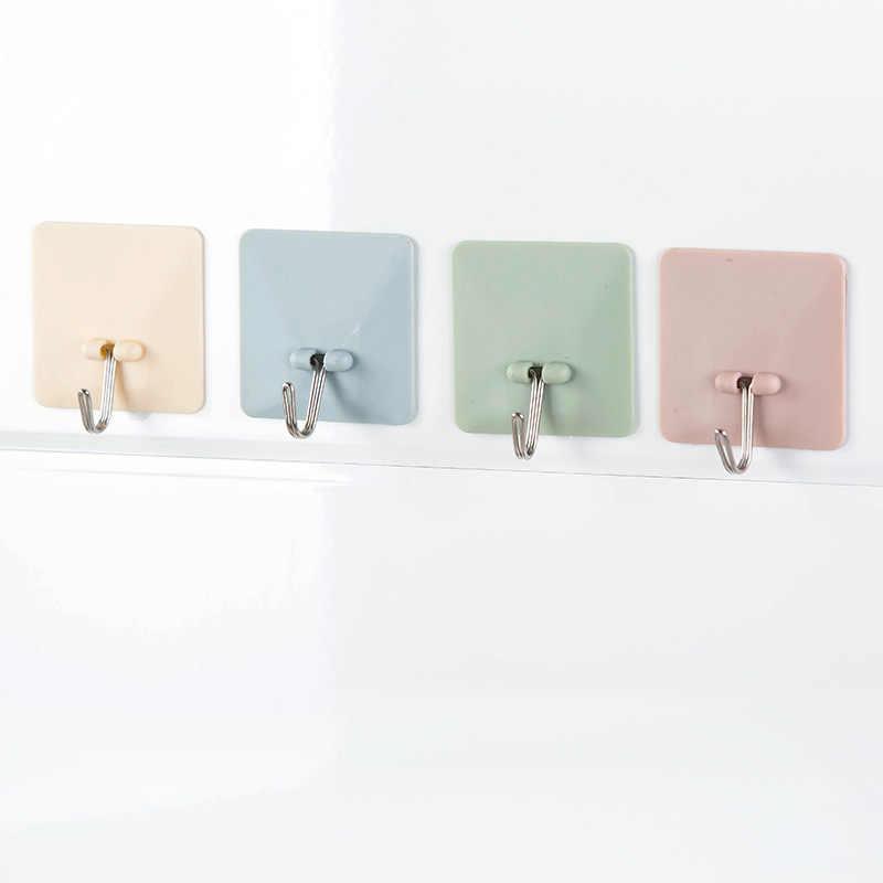 Пластиковые Кухонные клеящиеся крючки полка Вешалка Подставка-органайзер навесная дверь ванная комната вешалка на стену держатель рельсов