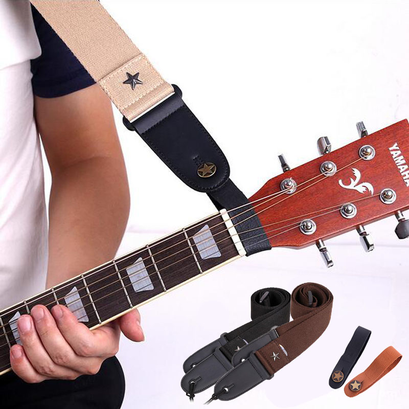 Leather Guitar Neck Strap Holder Button Headstock Adaptor Adjustable Guitar Strap Belt Parts & Accessories